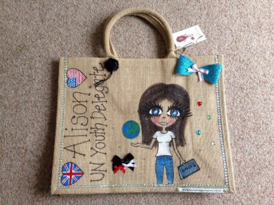 Front of my fab bag!