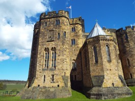 The real Alnwick Castle Tower (Gryffindor Tower)