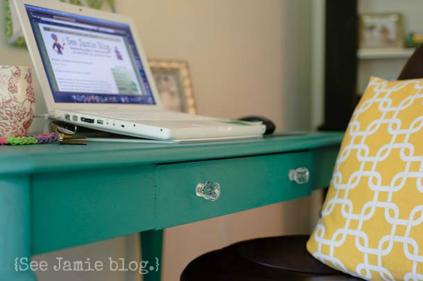 My cheery and frugal Office Makeover  See Jamie blog
