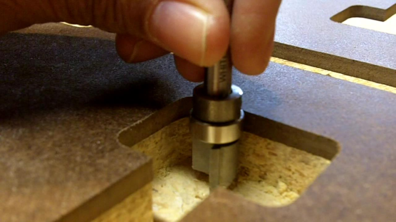 How to Make Slots in Counter Top for Miter Bolts  See