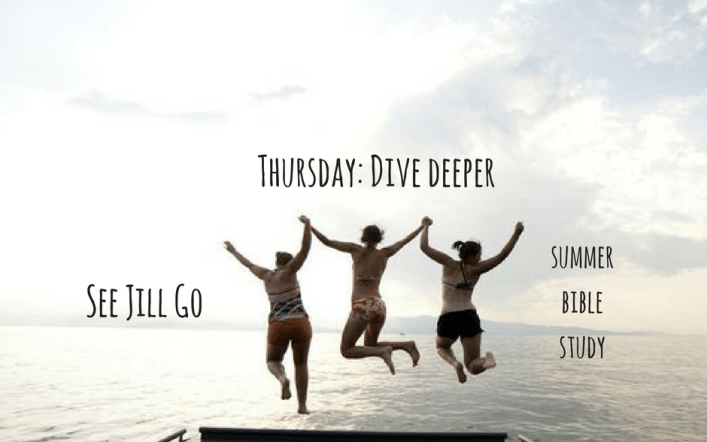Thursday: Dive Deeper