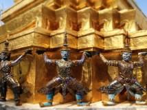 Details are seen at the royal palace in Bangkok