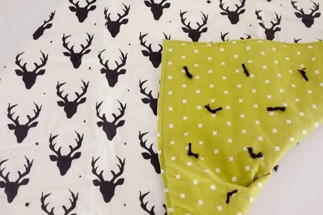 Simple Yarn Tied Baby Blankets  see kate sew
