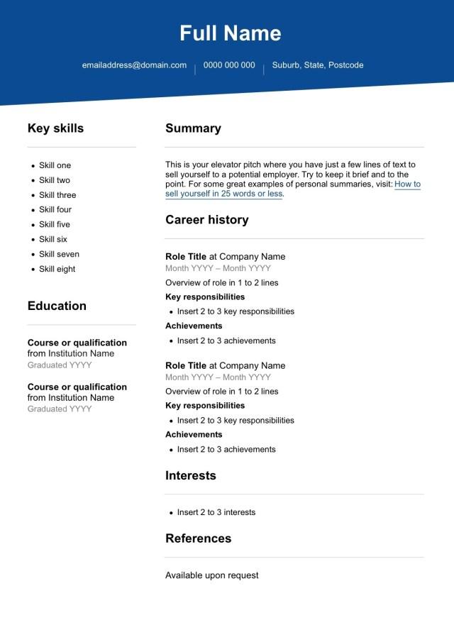 Free resume template - SEEK Career Advice