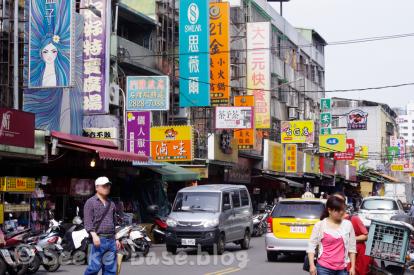 台湾らしい混雑した雰囲気