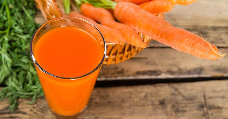 Carrot juice benefits for tumors