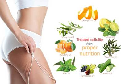 Treated cellulite with proper nutrition