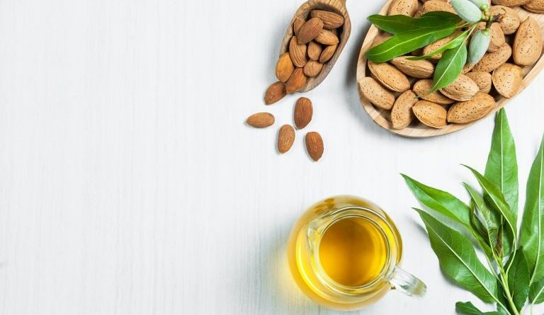 Almond oil natural cosmetics with multiple uses