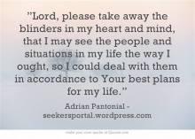 Prayer - Blinders Away