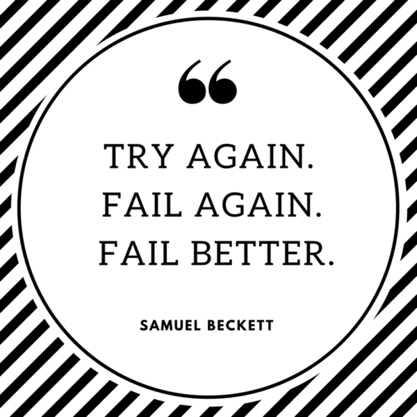 image of quote on overcoming failure
