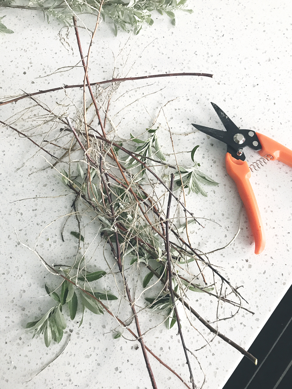 make sure you do this when you cut branches for a centerpiece
