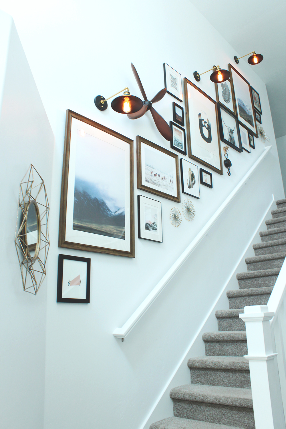Gallery Wall Stair How To