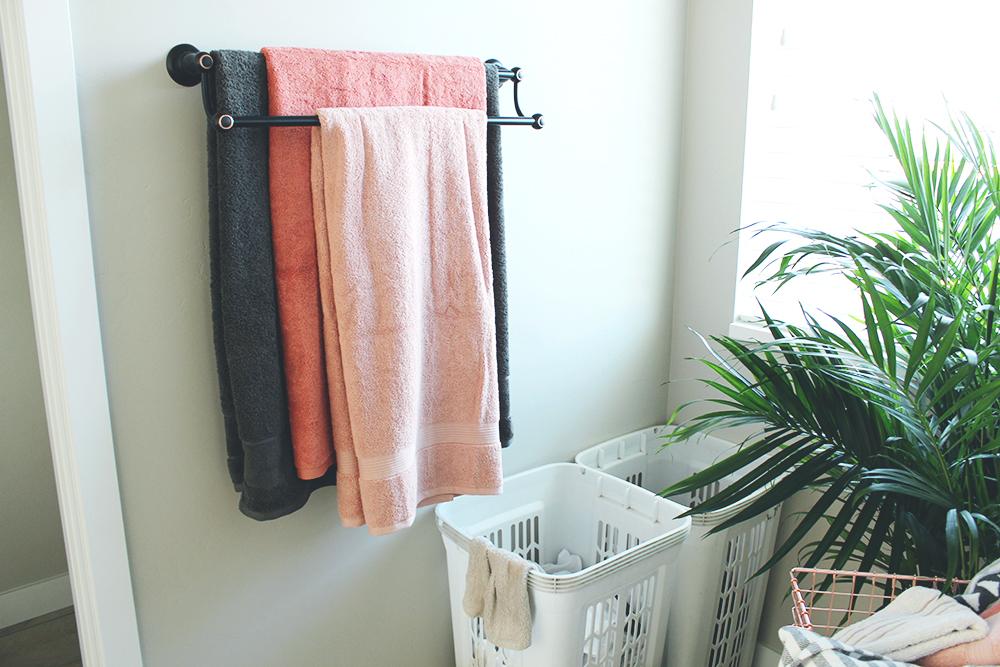 master bathroom after oasis modern oil rubbed towel rack