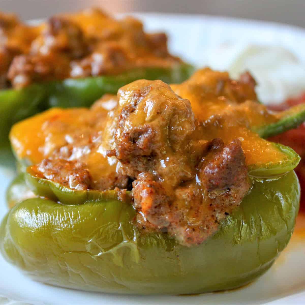taco stuffed bell peppers keto stuffed