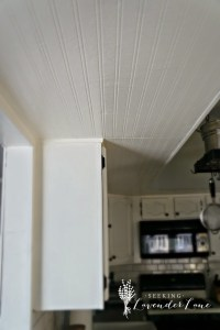 Adding Beadboard Wallpaper to our Kitchen Ceiling ...