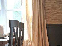Cheap Home Decor: Easiest DIY Drop Cloth Window Treatments
