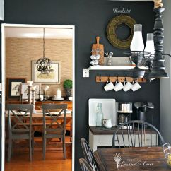 Chalkboard In Kitchen Islands Cheap Adding Drama With A Wall