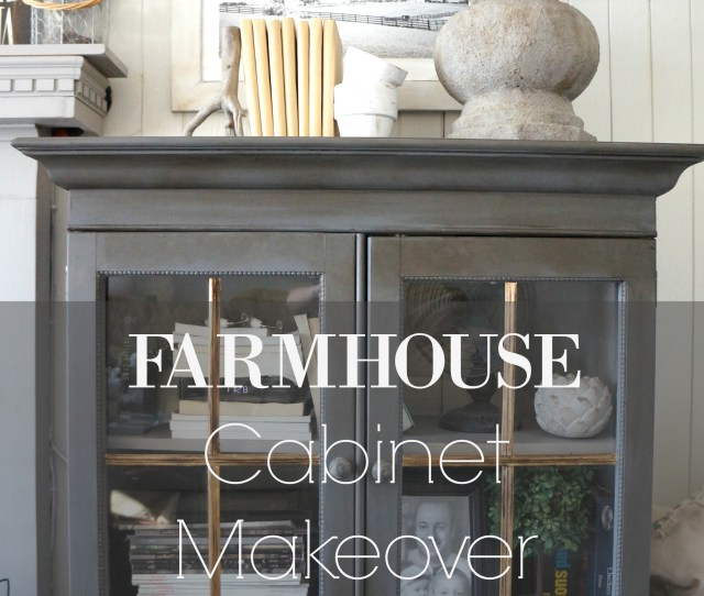 Farmhouse Cabinet Makeover
