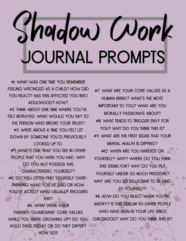 shadow work prompt pdf