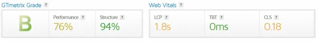 blog speed after installing wprocket