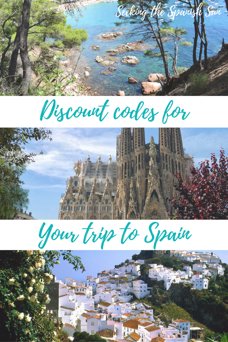 Discount codes for your trip to Spain - Seeking the Spanish