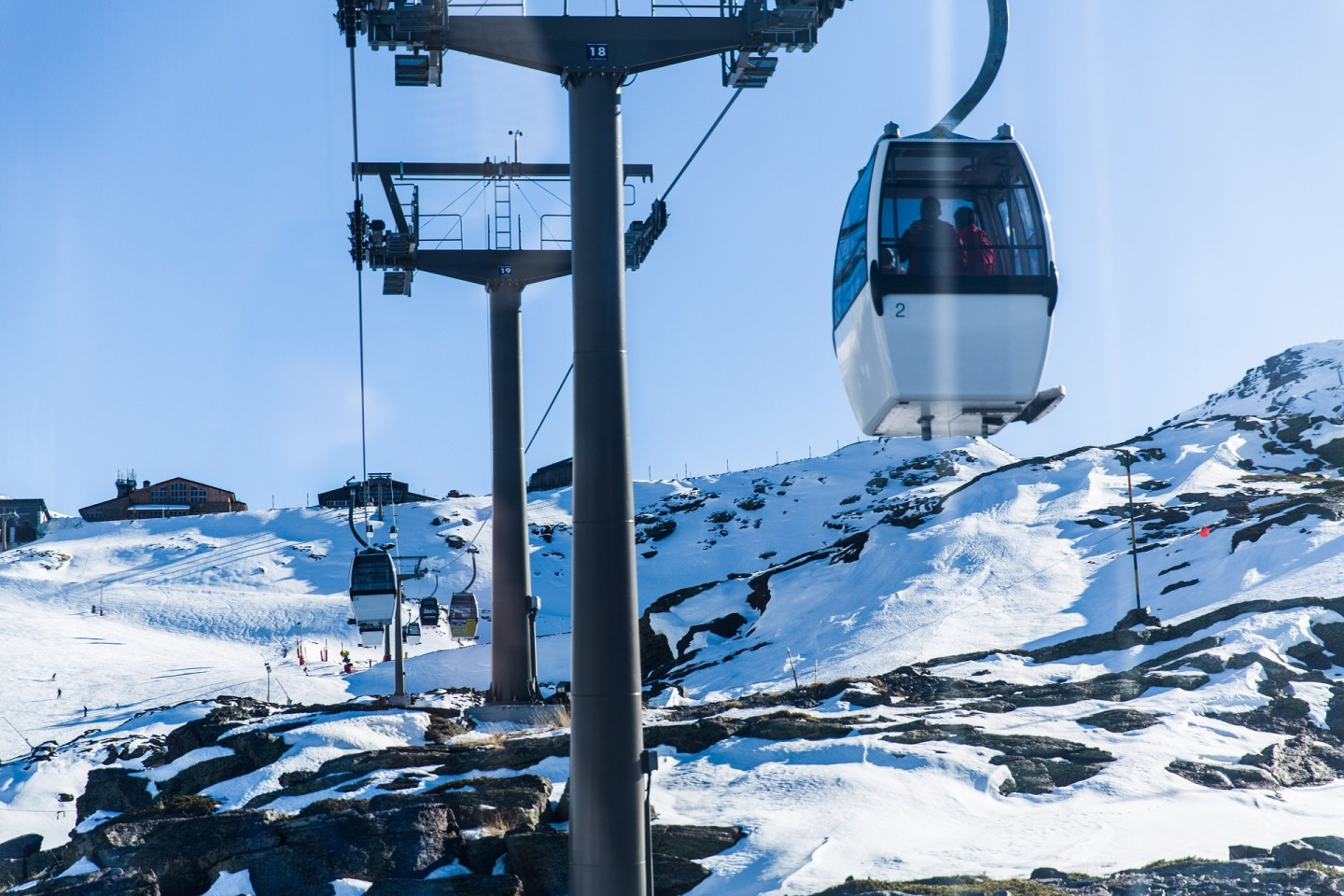Snow covered mountains and ski resorts in Spain