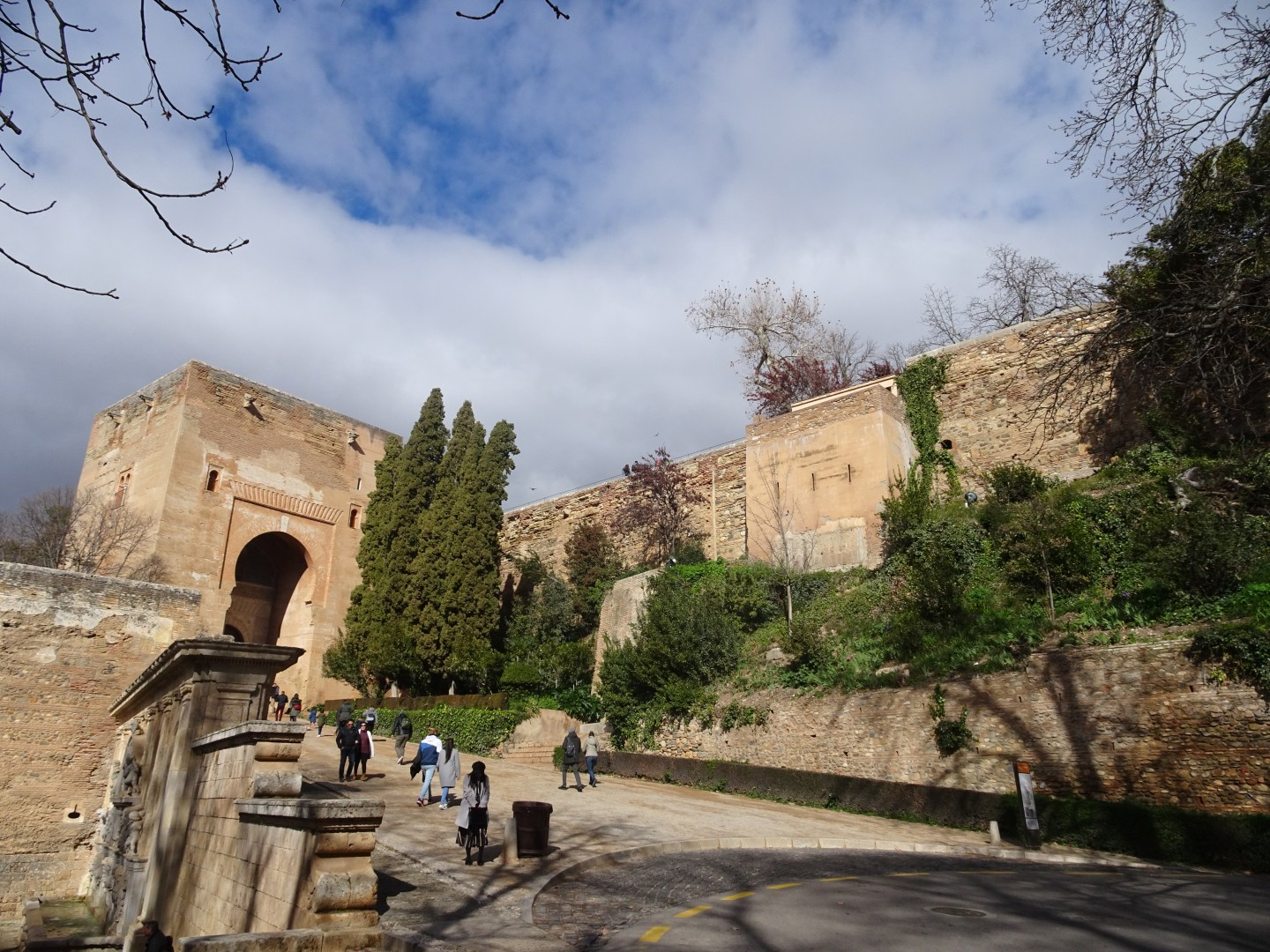 There are parts of the Alhambra you can access for free