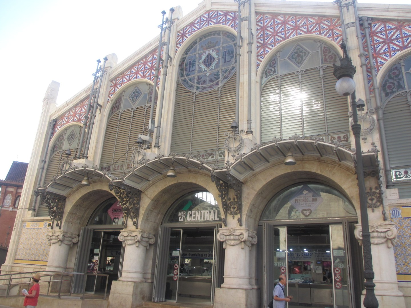 The Mercat Central food market in Valencia