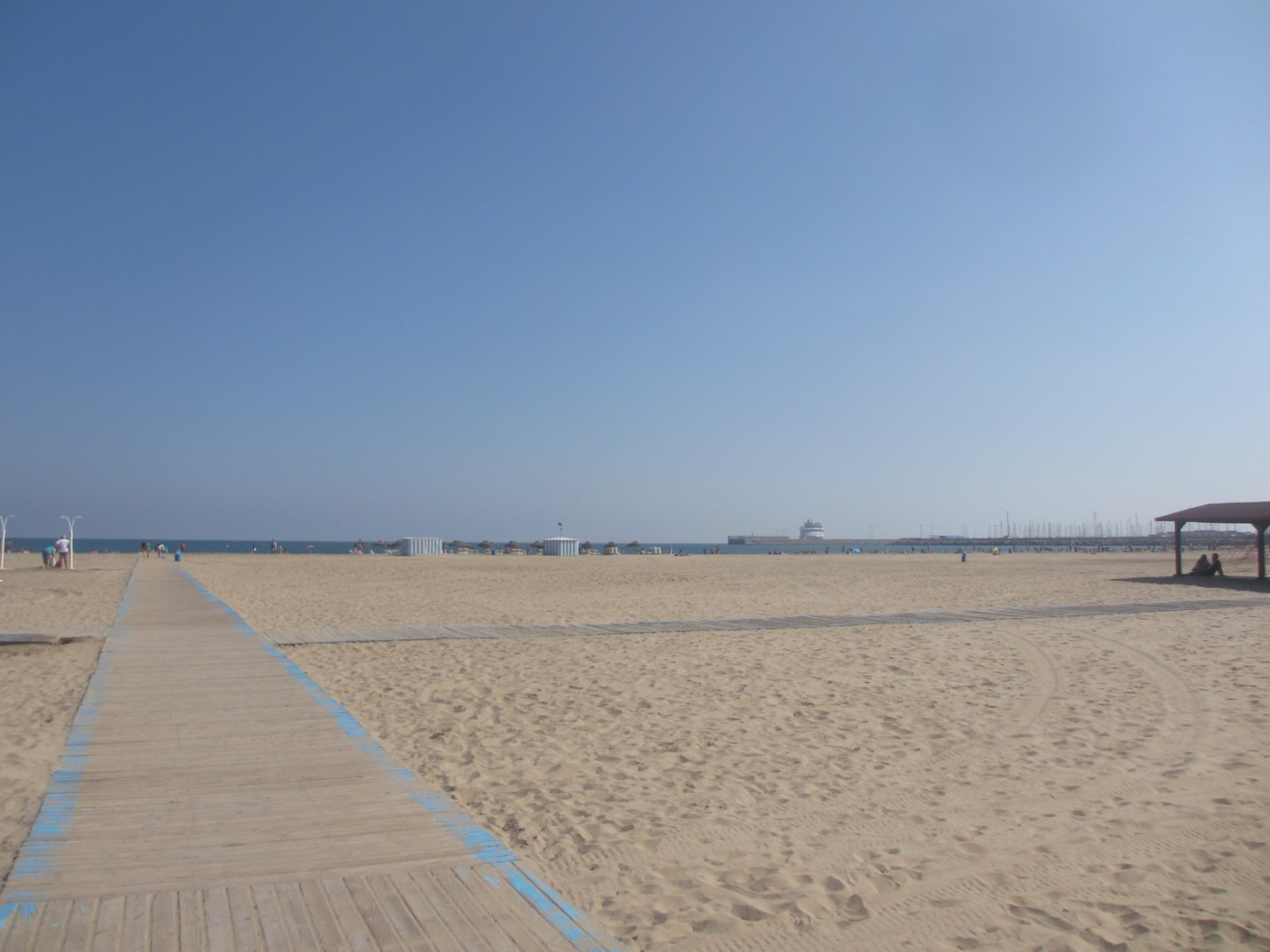 Malvarossa beach in Valencia