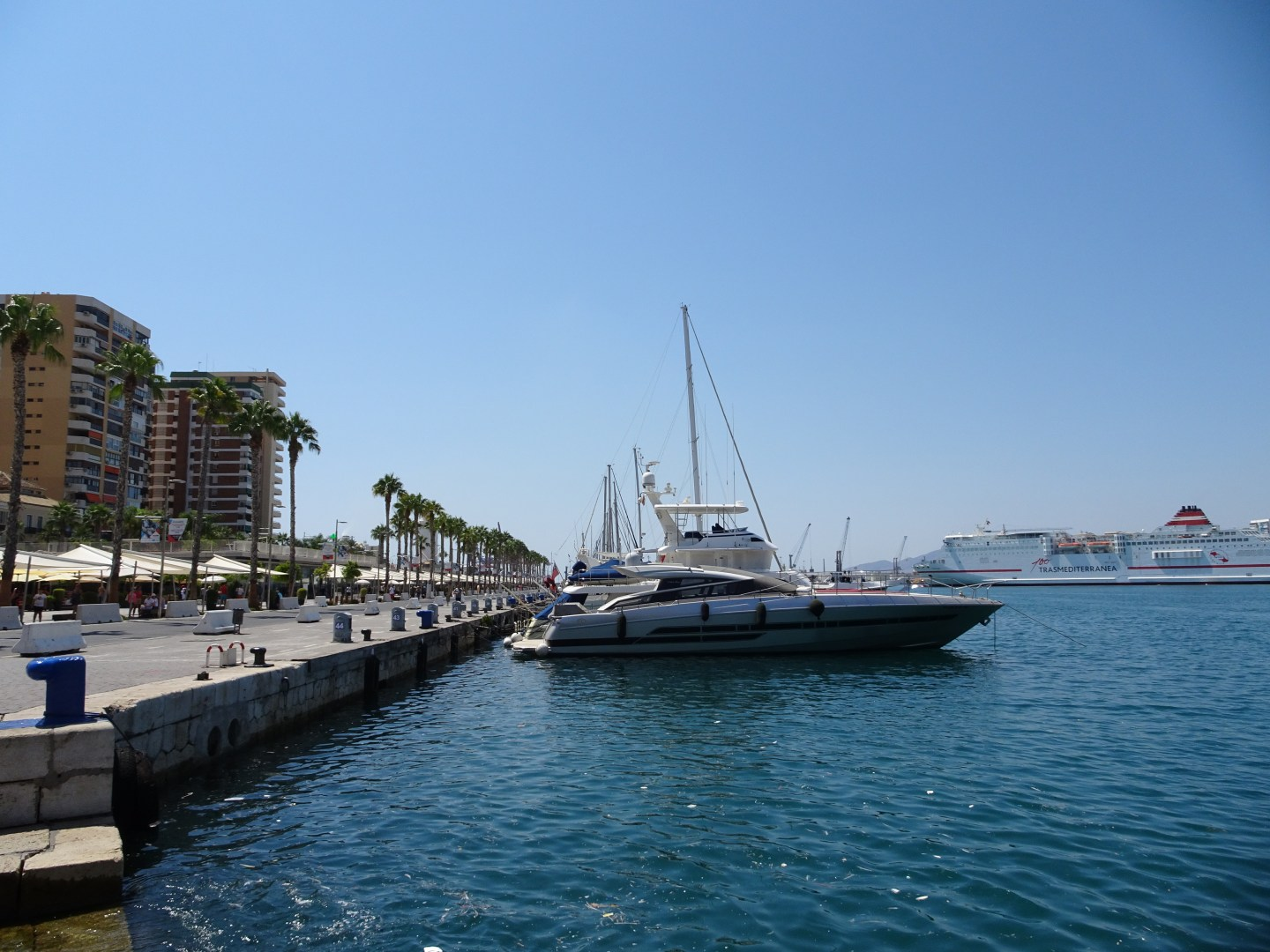 The modern port area in Malaga