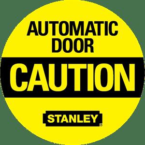automatic door caution logo