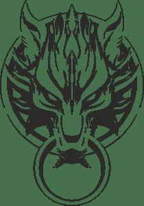 Final Fantasy Advent Children Wolf Logo Vector (.CDR) Free