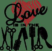 love in hair logo vector
