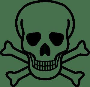 Skull And Crossbones Logo Vector (.EPS) Free Download