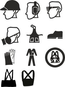 Work safety equipment Logo Vector (.CDR) Free Download