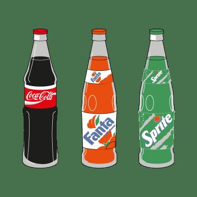 coca cola logos vector