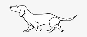 dog lines straight drawings drawing drawn animal simple seekpng