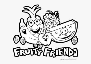 Fruit Black And White Free Fruit Clipart Cartoon Fruits Clipart Black White PNG Image Transparent PNG Free Download on SeekPNG