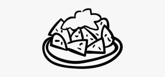 Food Plate Hand Drawn Lunch Vector Lunch Plate Black & White PNG Image Transparent PNG Free Download on SeekPNG