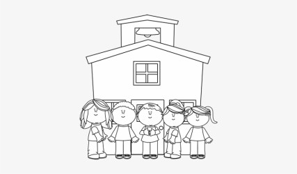Free Library Kids At Graphics From School Clipart Black And White PNG Image Transparent PNG Free Download on SeekPNG