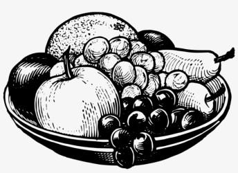 Bowl Black&white Fruit Food Grape Fruit Bowl Clip Art PNG Image Transparent PNG Free Download on SeekPNG
