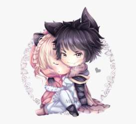Anime Wolf Boy Chibi Anime Cute Chibi Wolves Couple PNG Image Transparent PNG Free Download on SeekPNG