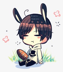 Drawing Watercolor Painting Anime Anime Chibi Bunny Boy PNG Image Transparent PNG Free Download on SeekPNG