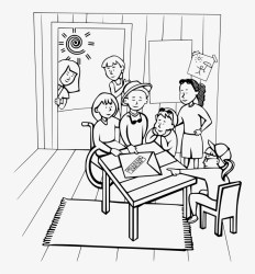 Graphic Transparent Library Clubhouse Kids Medium Image School Club Clipart Black And White PNG Image Transparent PNG Free Download on SeekPNG