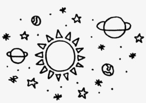 aesthetic space planets drawing freetoedit transparent seekpng