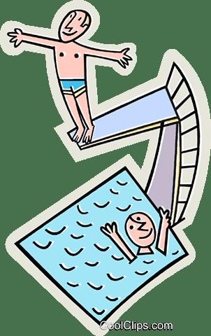 Diving Board Clipart : diving, board, clipart, Swimming, Diving, Board, Royalty, Vector, Transparent, Download, SeekPNG