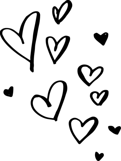 Black Hearts Png : black, hearts, Hearts, Black, White, Download, SeekPNG