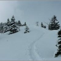 Hiking toward Grandeur Peak...on a snowy Sunday in March....
