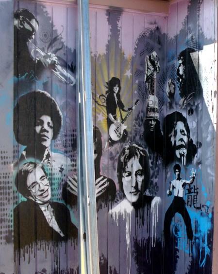 Utah Arts Alliance Legends mural - far right panel