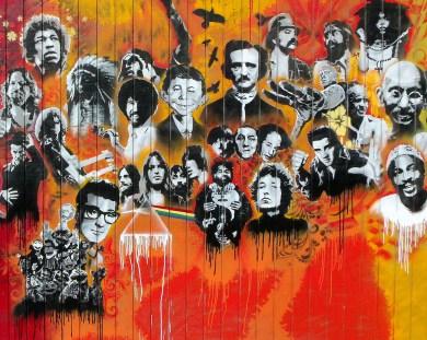 Utah Arts Alliance Legends mural mid-left panel rev